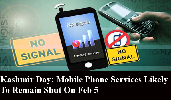 Kashmir Day: Mobile Phone Services Likely To Remain Shut On Feb 5