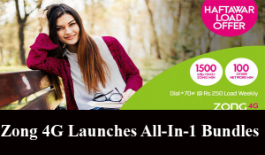 Zong 4G Launches All-In-1 Bundles