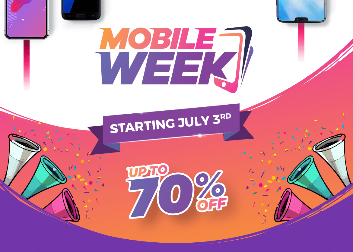 Daraz Mobile Week- Year's Biggest Mobile Sale to Start on July 3rd With up to 70% OFF
