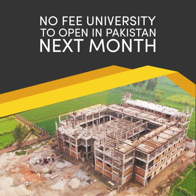 Akhuwat University: World's First Fee-Free University Sets to Start in Pakistan Next Month