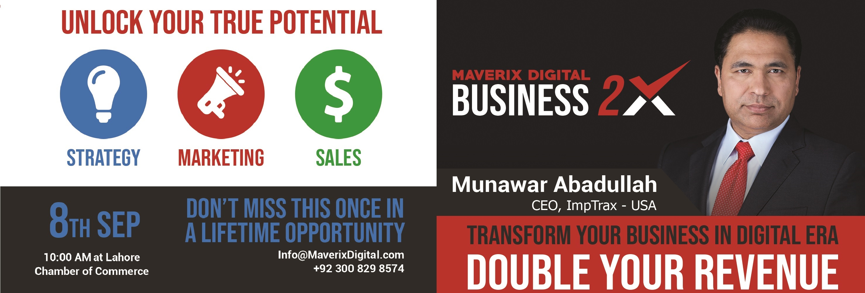 A Digital Marketing Training by Maverix Digital will be Held on 8th of September at LCCI