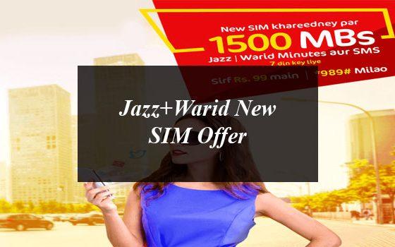 Jazz+Warid New SIM Offer