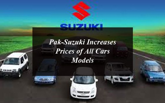 New Year Gift: Pak-Suzuki Increases Prices of All Cars Models