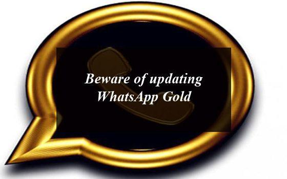 Beware of updating WhatsApp Gold