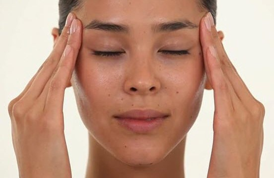 forehead and temple massage