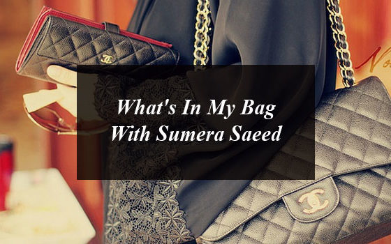 What's In My Bag With Sumera Saeed